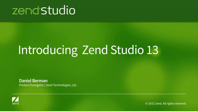 Zend Technologies Ltd. Zend Studio v13.0 (Win/Mac/Lnx)
