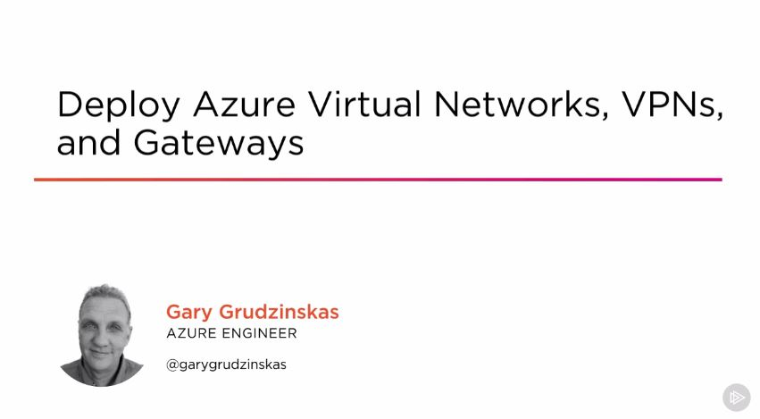 Deploy Azure Virtual Networks, VPNs, and Gateways