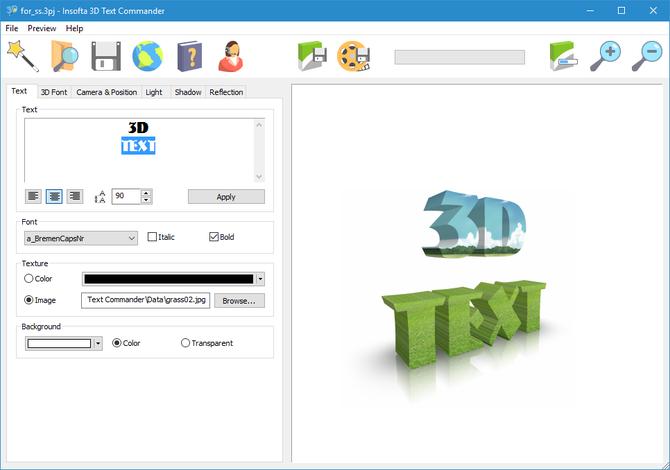 Insofta 3D Text Commander v4.0.0 Multilingual