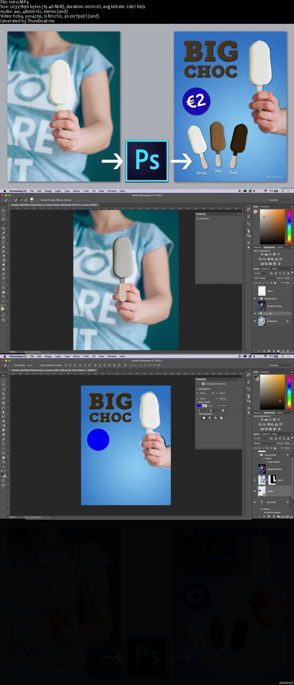 Creative Workflow in Adobe Photoshop - Quickly Design an Ice Cream Poster