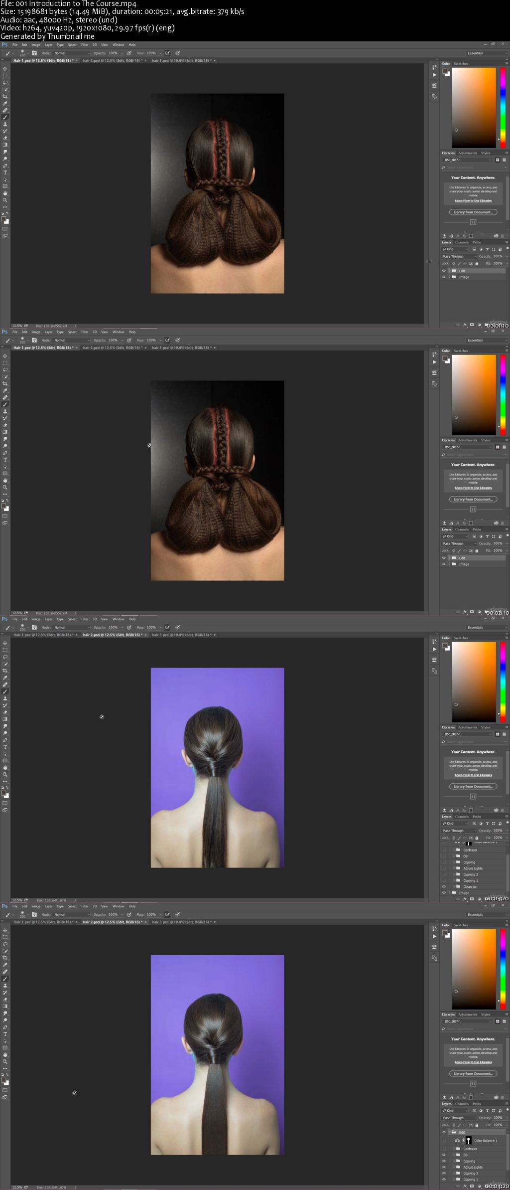 Photoshop CC: High End Hair Retouching in Photoshop
