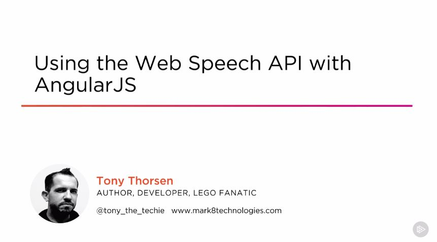 Using the Web Speech API with AngularJS