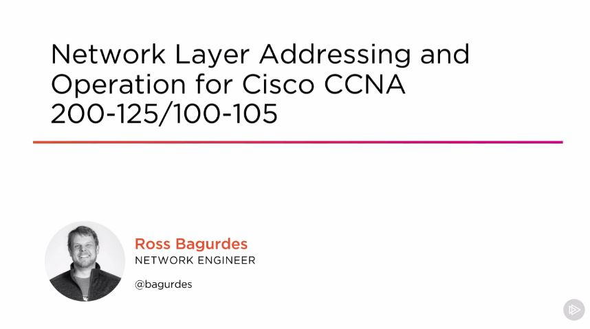 Network Layer Addressing and Operation for Cisco CCNA 200-125/100-105