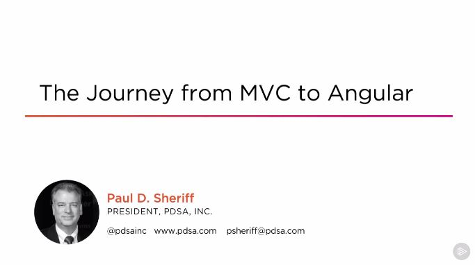 The Journey from MVC to Angular