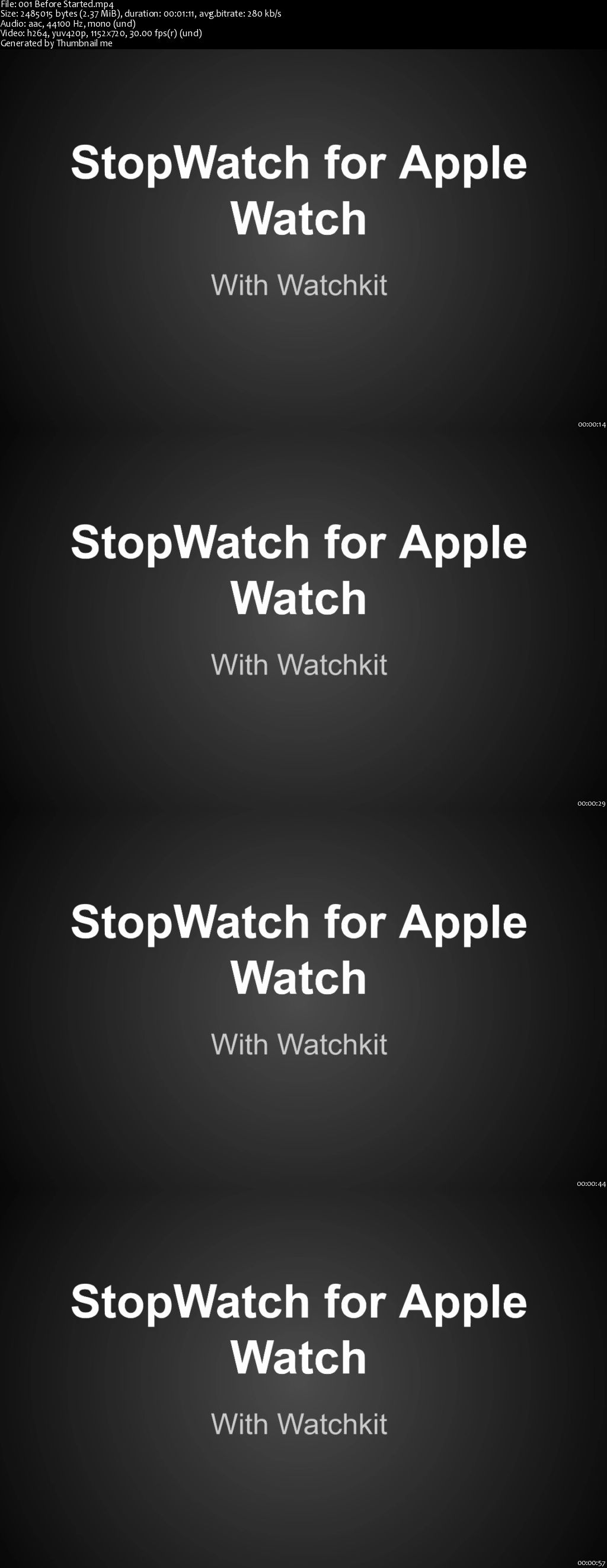 How to Create Stopwatch App for Watchkit