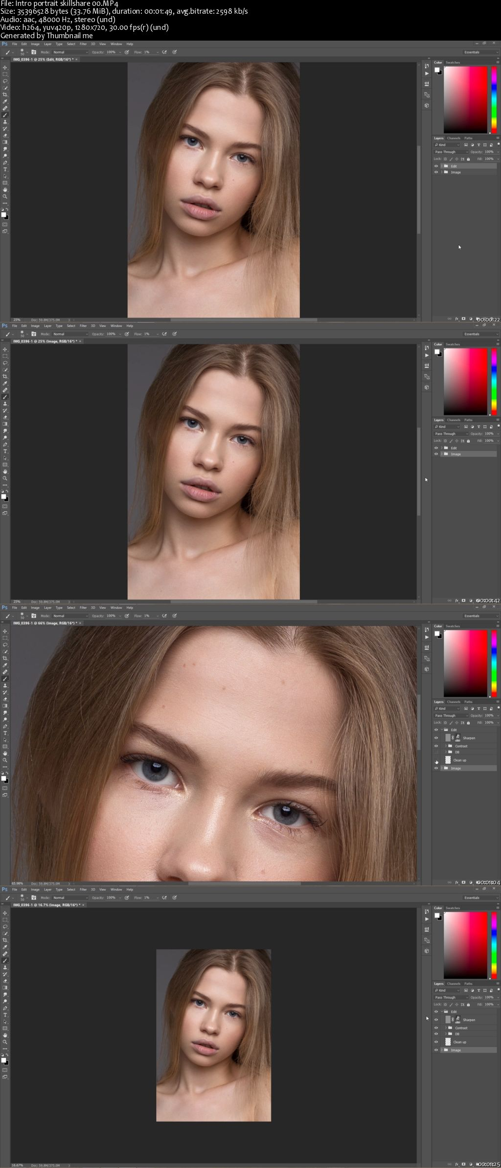 Professional Portrait Retouching - Photoshop CC