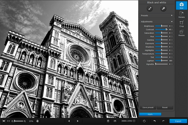 Movavi Photo Noir 1.0.1 Multilangual Mac OS X