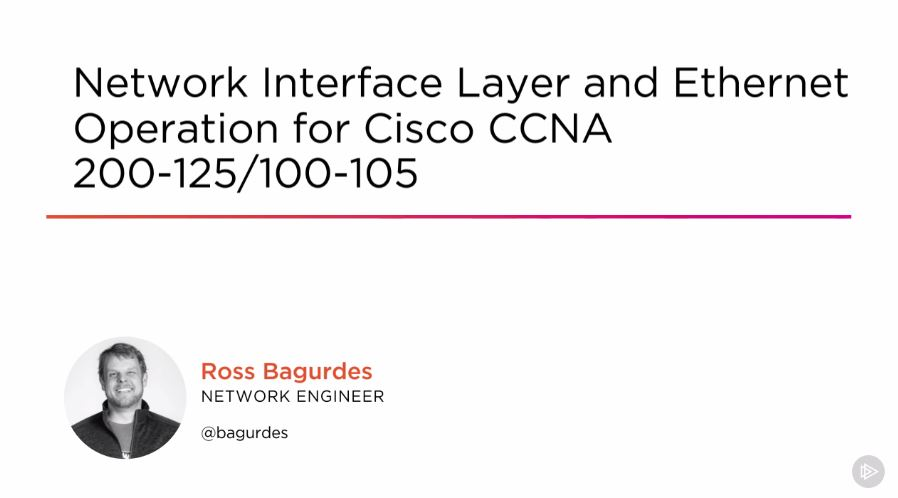 Network Interface Layer and Ethernet Operation for Cisco CCNA 200-125/100-105 (2016)