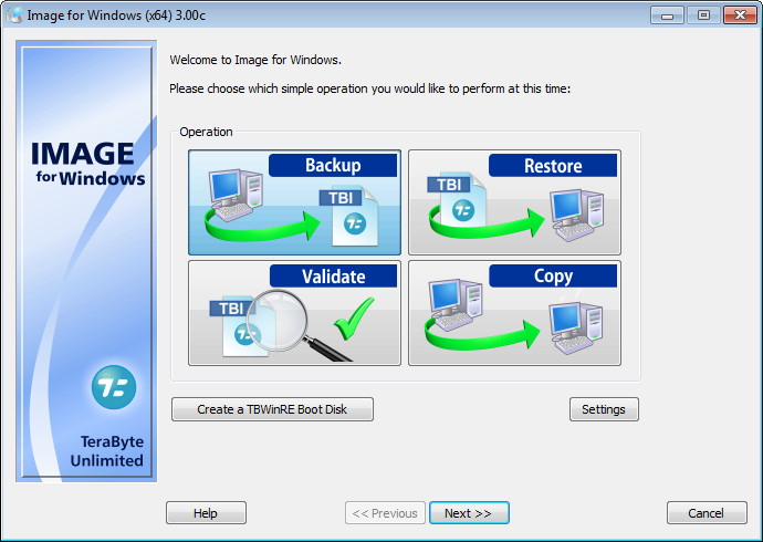 TeraByte Drive Image Backup and Restore Suite 3.00c Retail