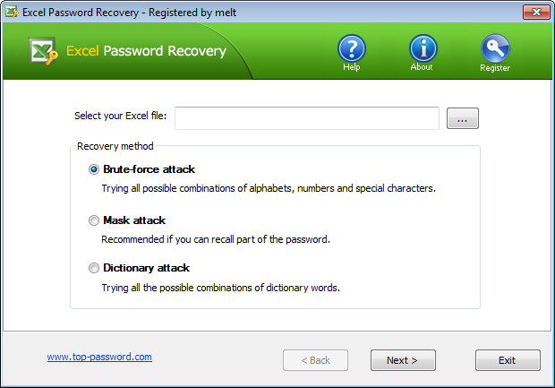 Top Password Excel Password Recovery 1.80