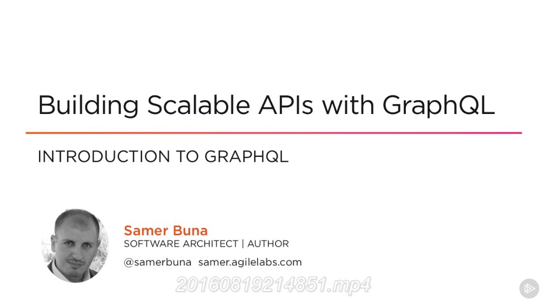 Building Scalable APIs with GraphQL (2016)