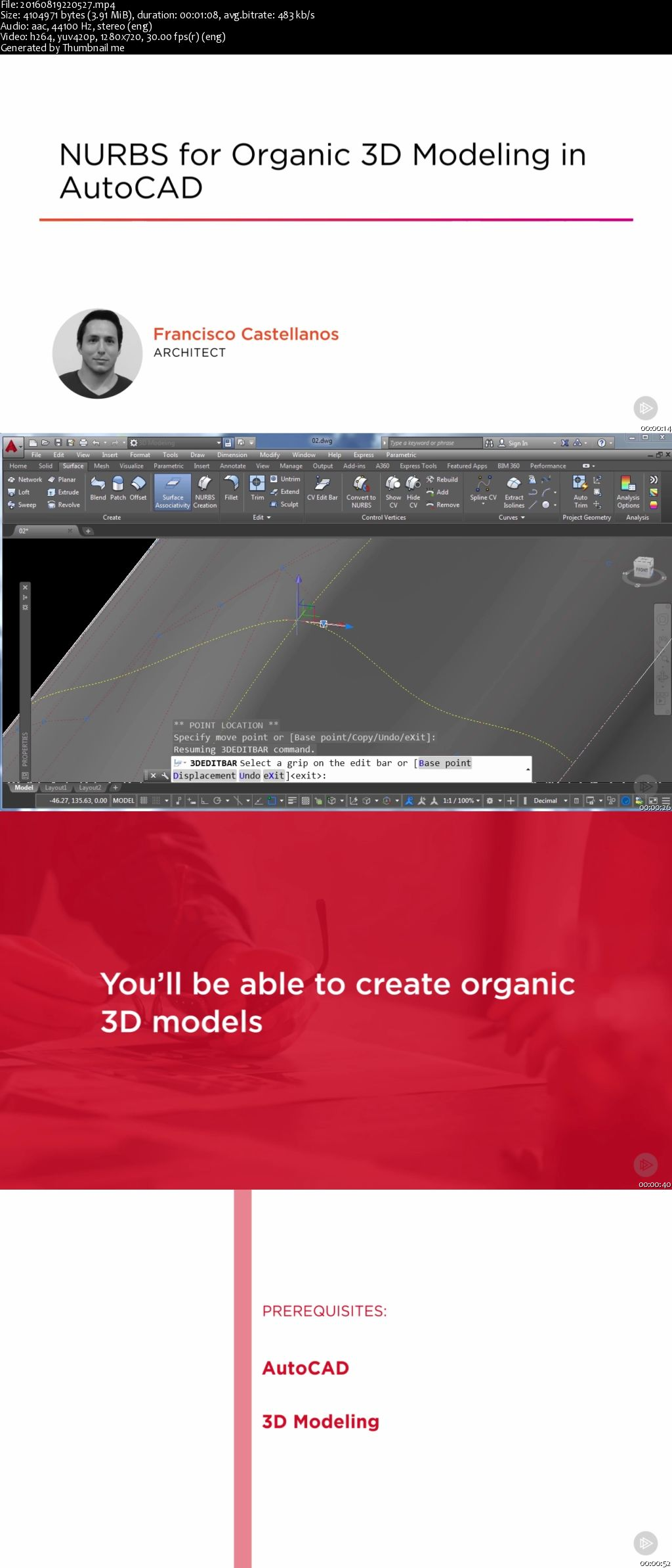 NURBS for Organic 3D Modeling in AutoCAD (2016)