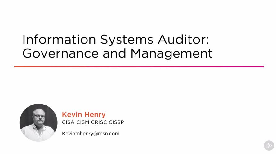 Information Systems Auditor: Governance and Management (2016)