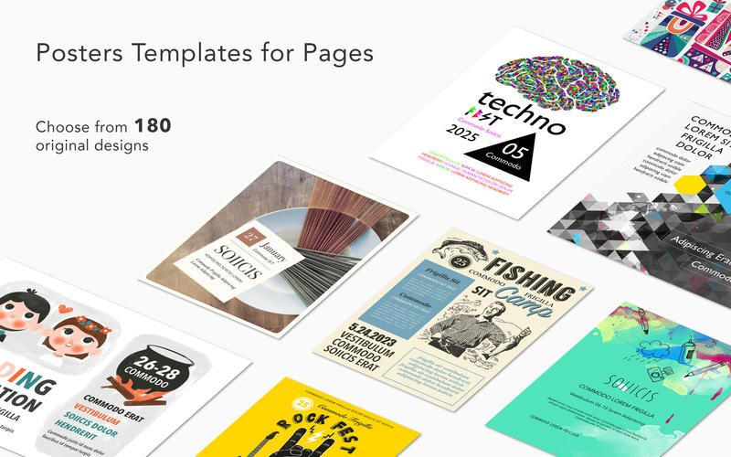 Posters Templates for Pages 1.2