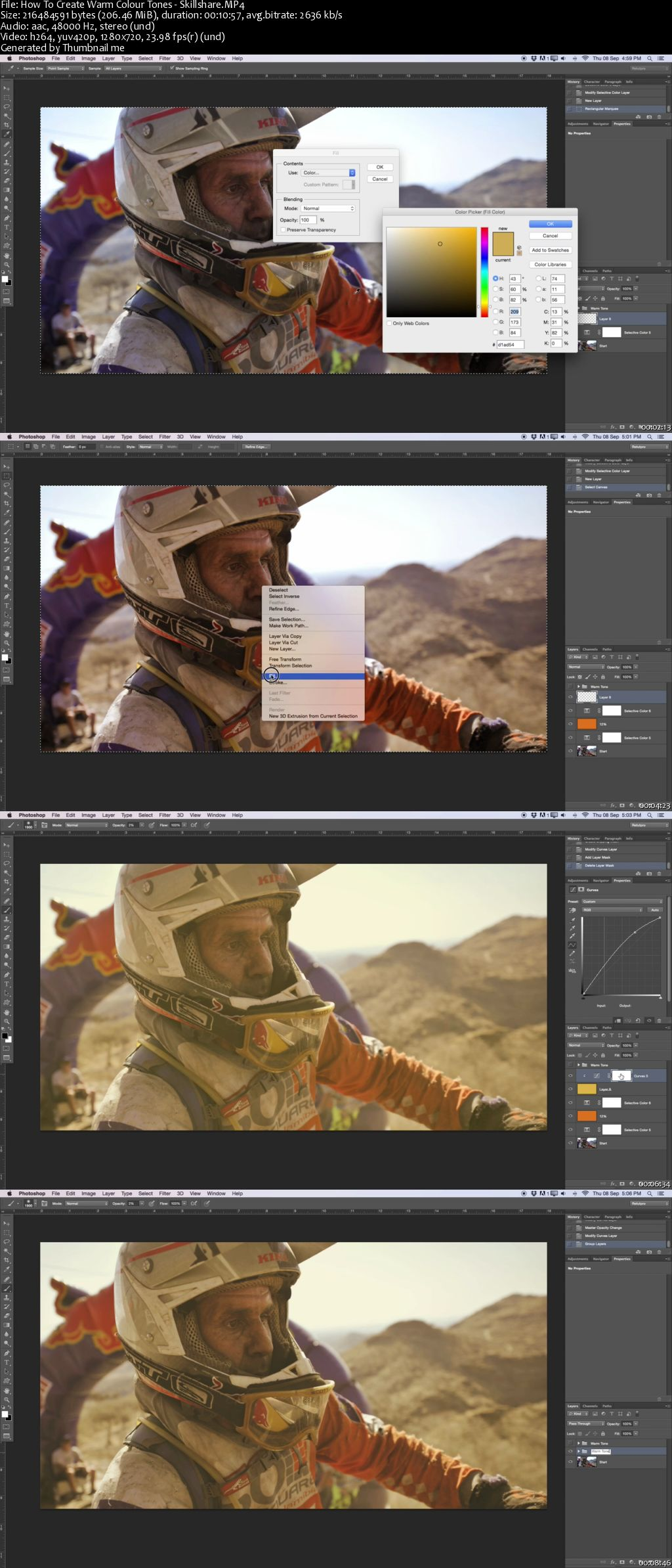 How To Create Warm Colour Tones in Photoshop