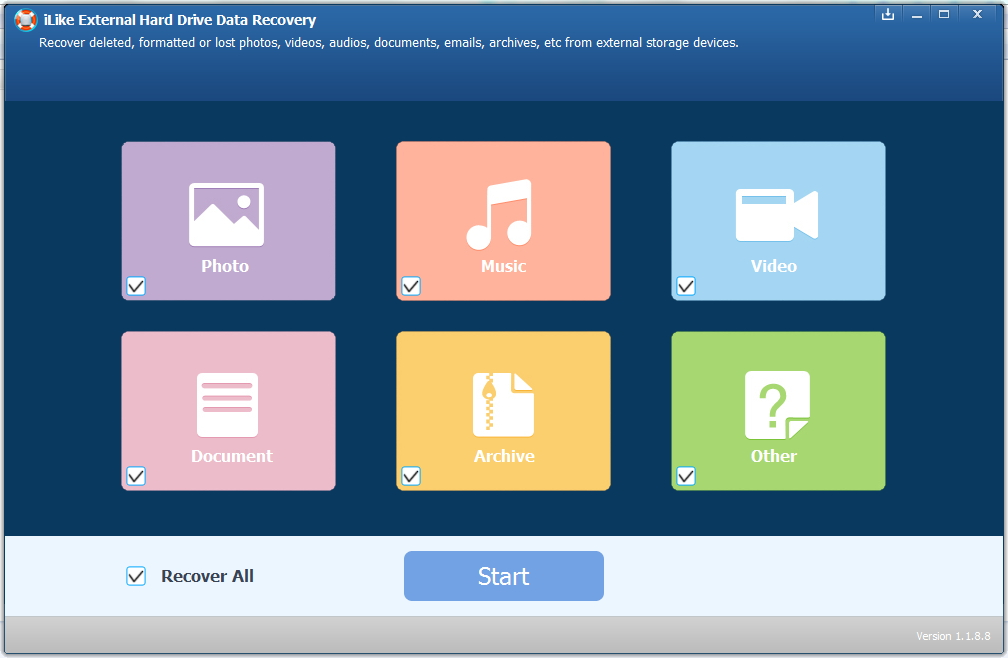 ILike External Hard Drive Data Recovery 5.8.8.8 Multilanguage
