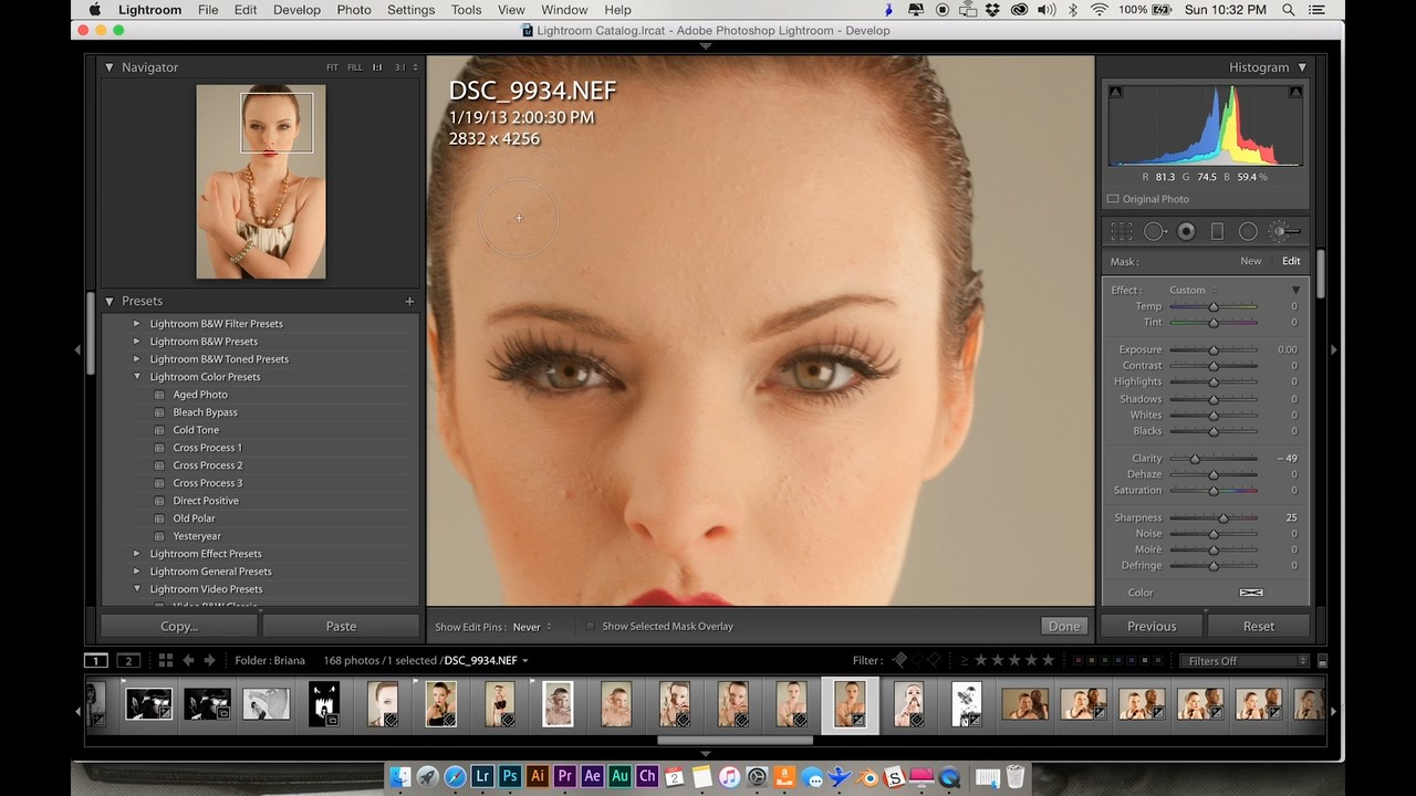 Retouching Portraits With Adobe Photoshop + Lightroom