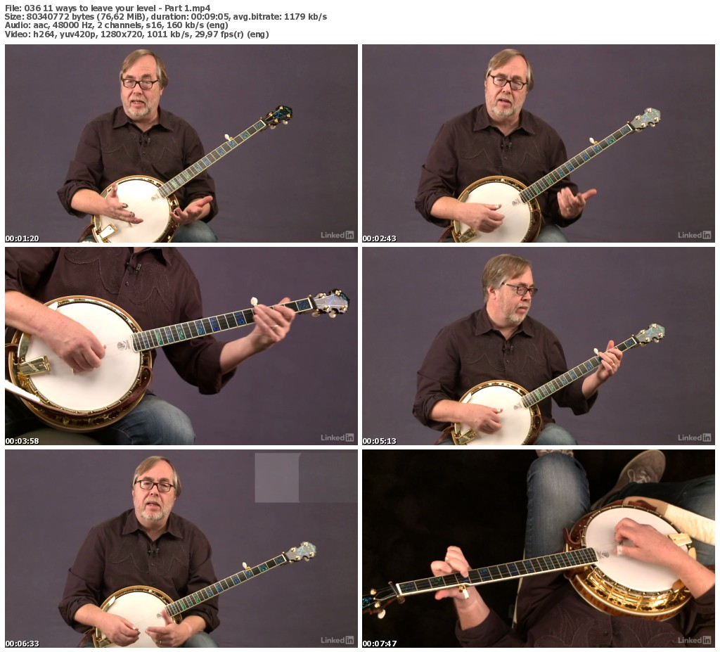 Lynda - Banjo Lessons with Tony Trischka: 3 Playing Songs