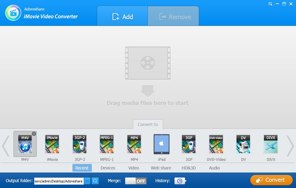 Adoreshare iMovie Video Converter 1.0.0.0 Build 1887