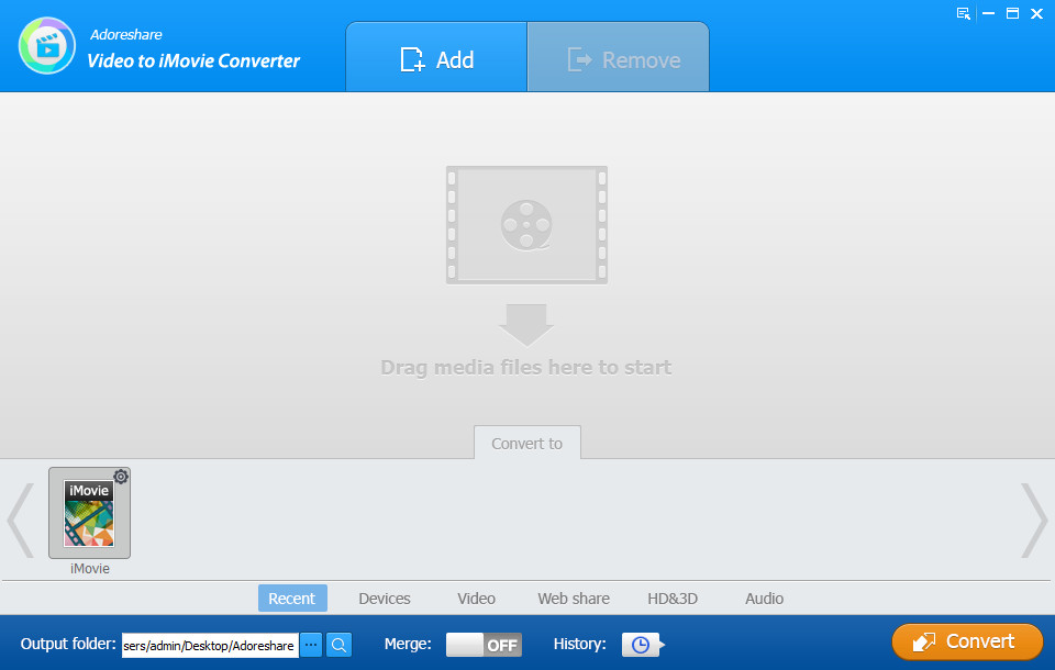 Adoreshare Video to iMovie Converter 1.0.0.0 Build 1887