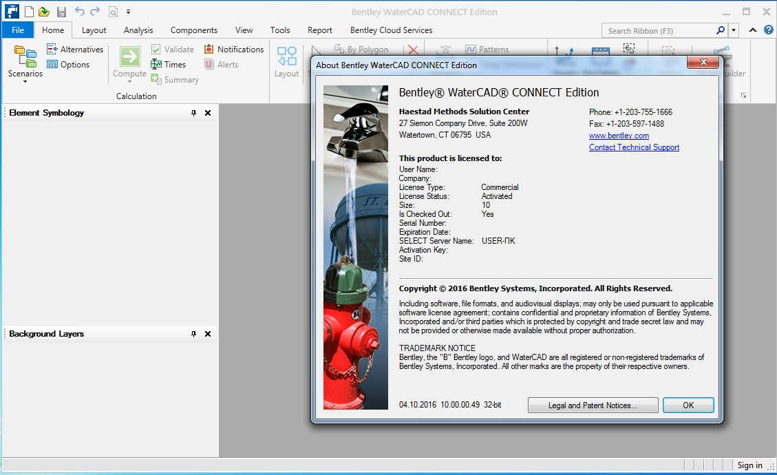 WaterCAD CONNECT Edition 10.00.00.49