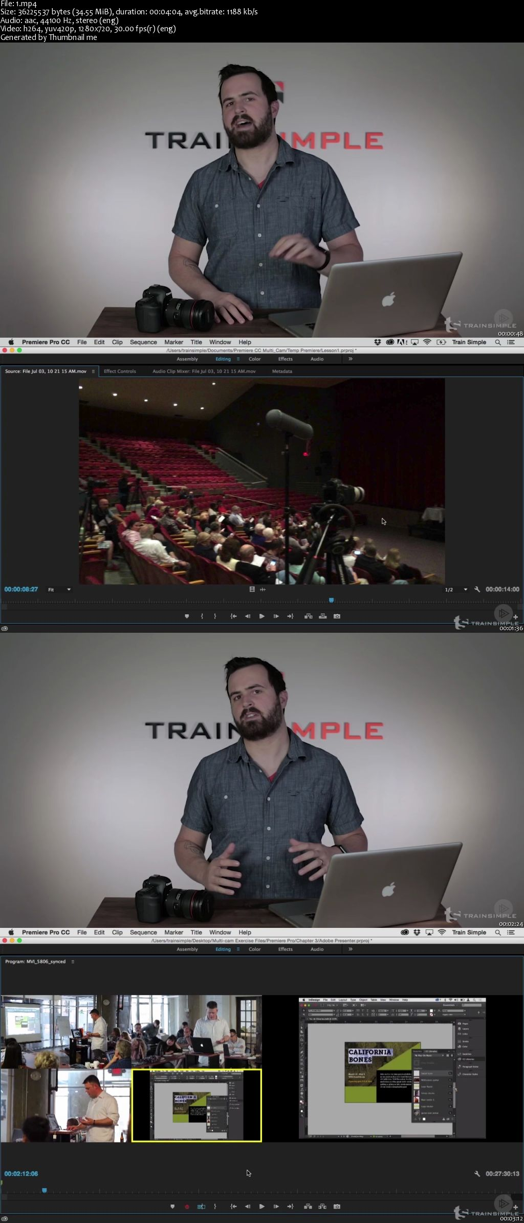 Premiere Pro CC Multi-camera Editing (2016)
