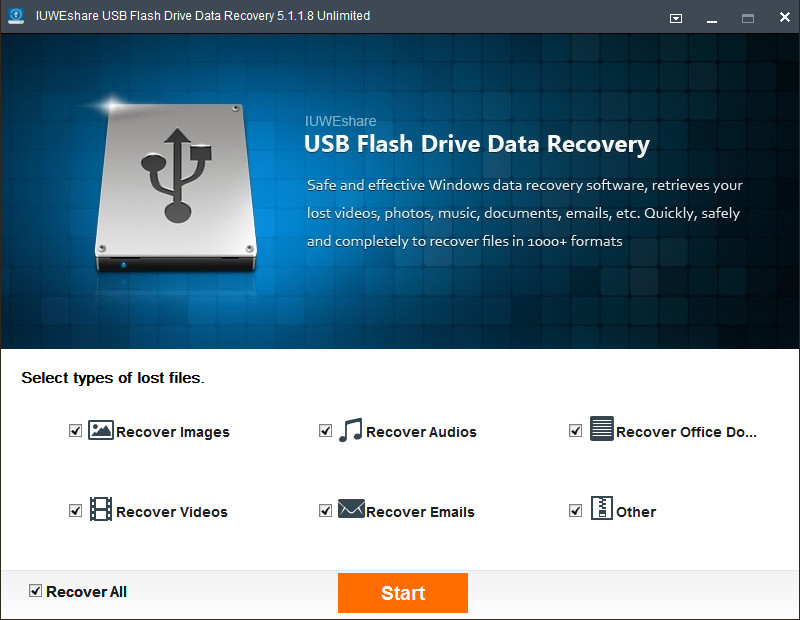 IUWEshare USB Flash Drive Data Recovery 5.1.1.8 Unlimited