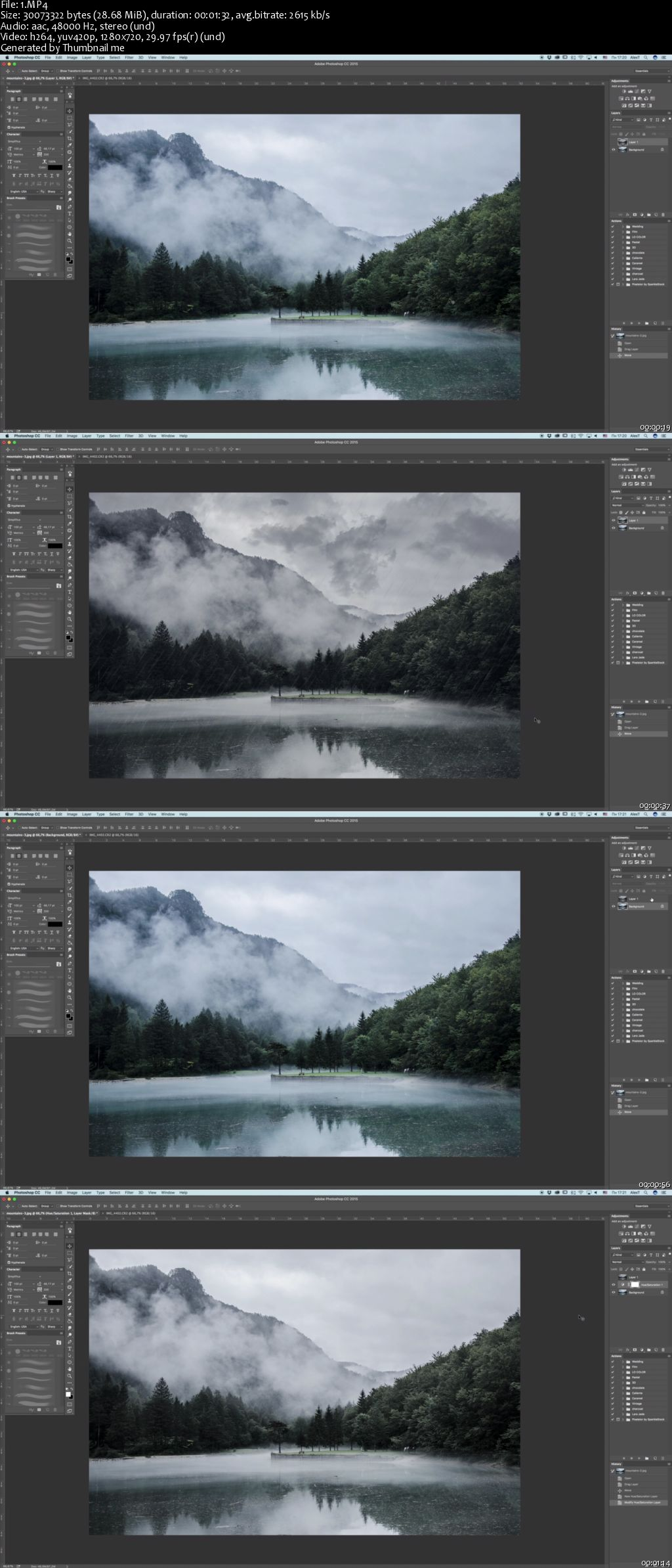 Rain Effect / How to create a rain effect in Photoshop CC / part 1
