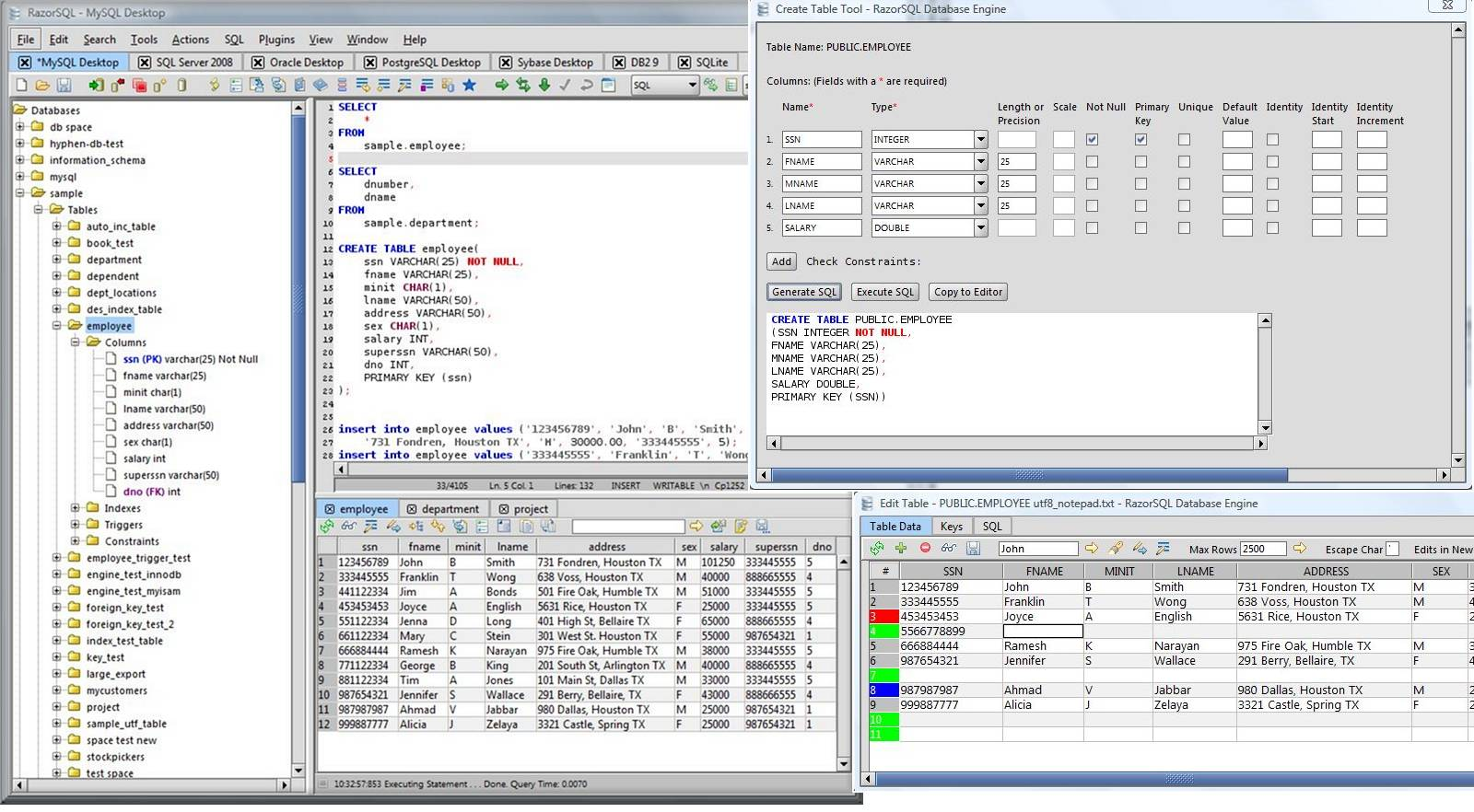 Richardson Software RazorSQL 7.2.5 x86/x64 + Portable