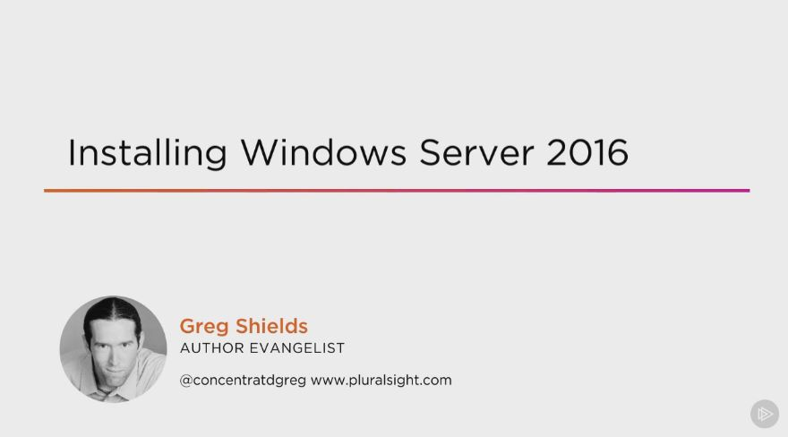 Installing Windows Server 2016