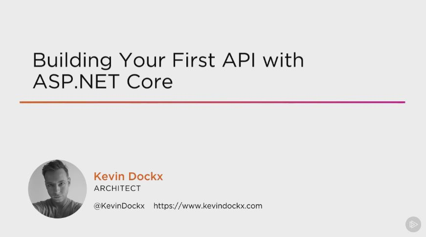 Building Your First API with ASP.NET Core (2016)