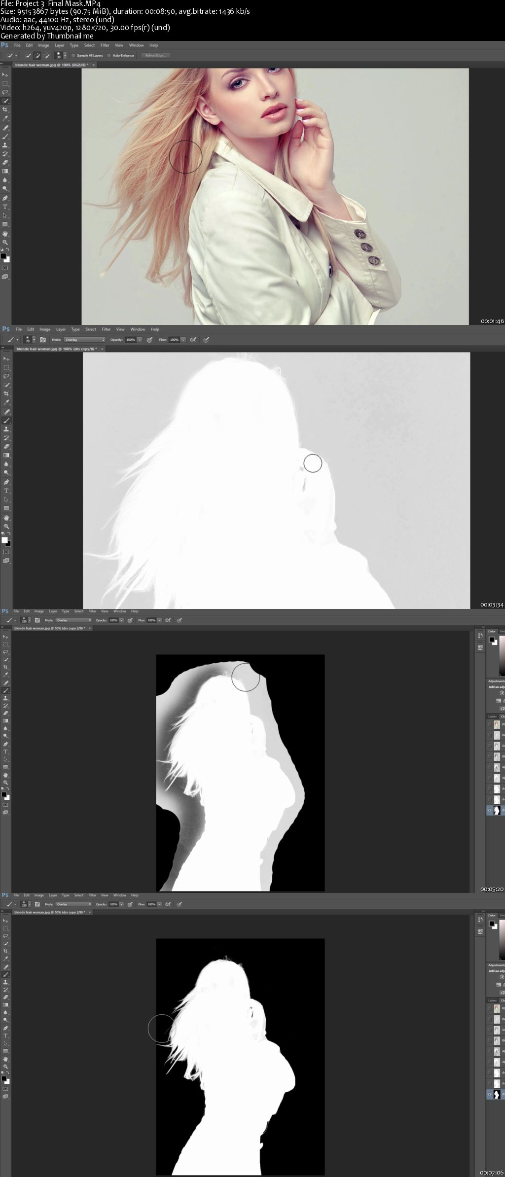 Masking Women Hair in Photoshop : Part3 (Project3)