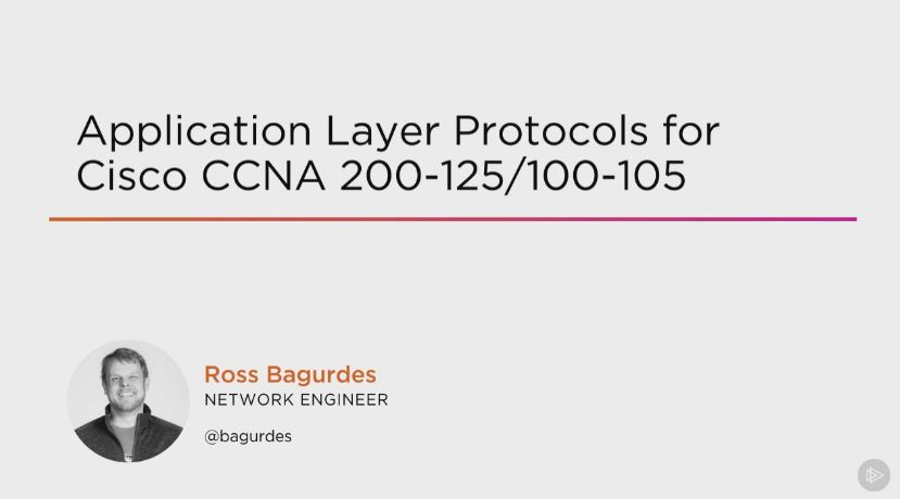 Application Layer Protocols for Cisco CCNA 200-125/100-105 (2016)