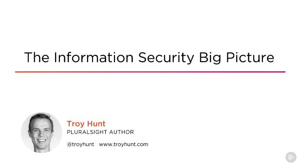 The Information Security Big Picture (2016)