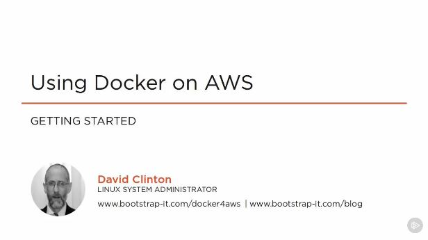 Using Docker on AWS (2016)