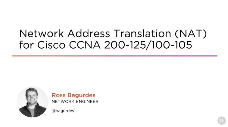 Network Address Translation (NAT) for Cisco CCNA 200-125/100-105 (2016)