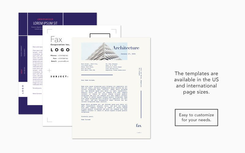 Fax Templates for Pages By Graphic Node 1.4 MacOSX