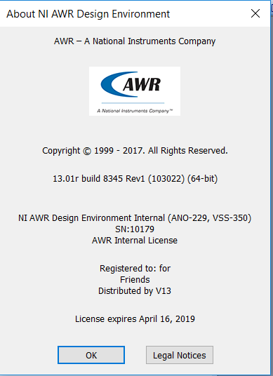 NI AWR Design Environment 13.01