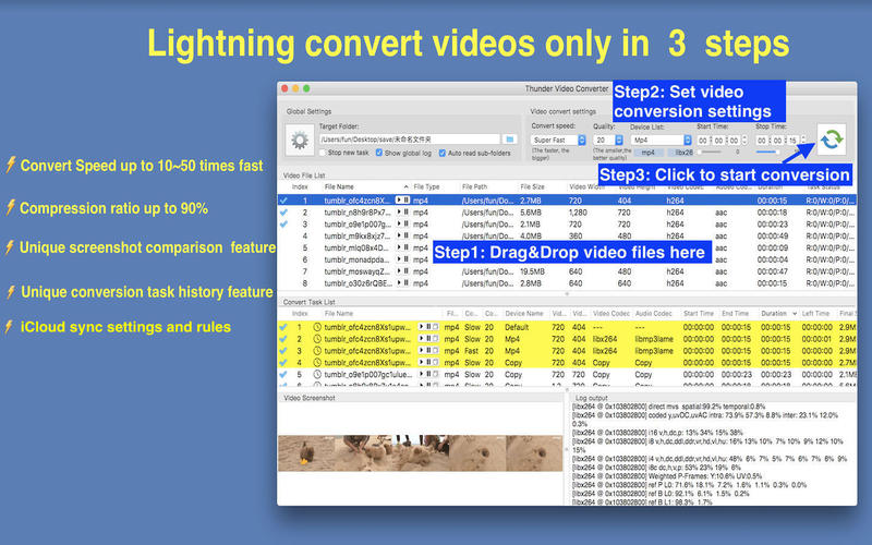 Thunder Video Converter Pro 1.95 MacOSX