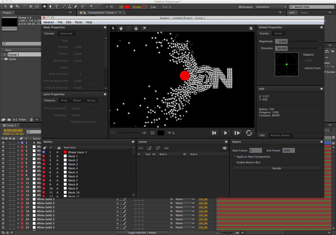 Motion Boutique Newton 2.2.11 for Adobe After Effects