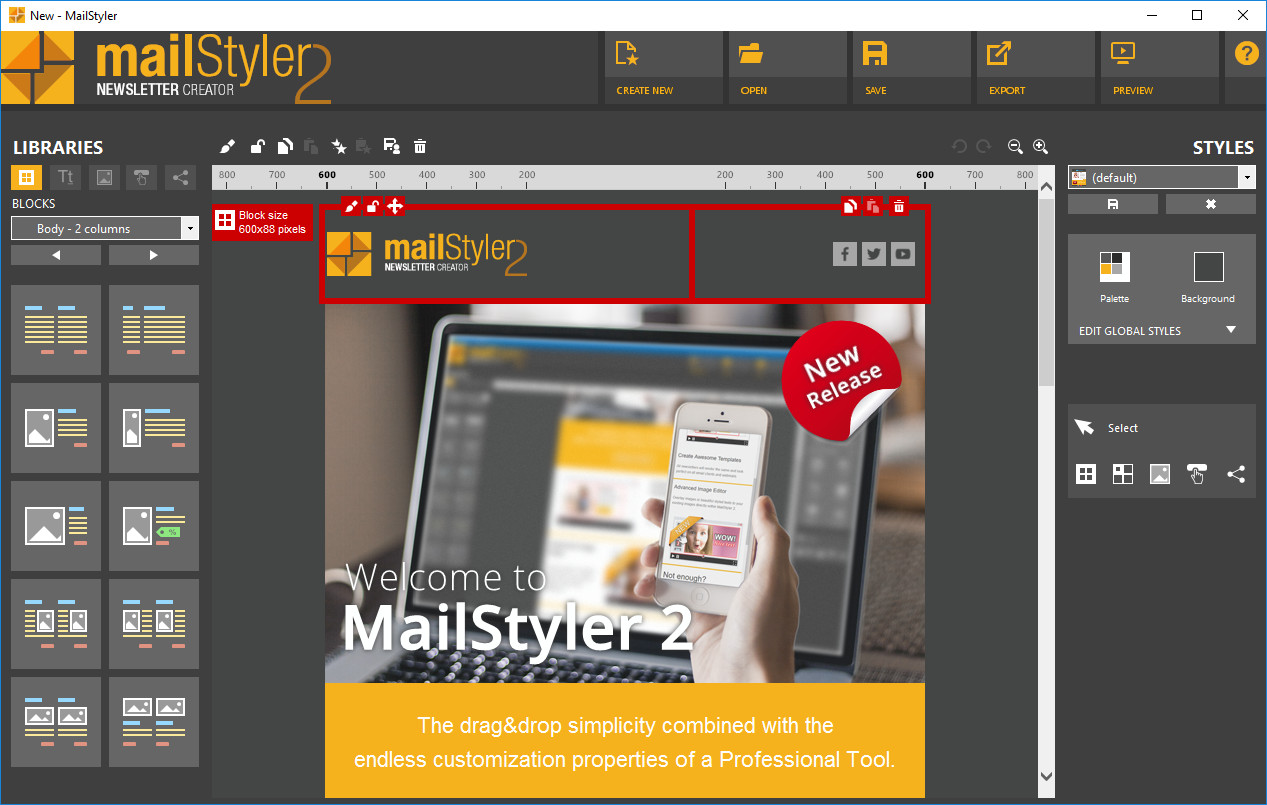 MailStyler Newsletter Creator Pro 2.0.0.330 Multilingual