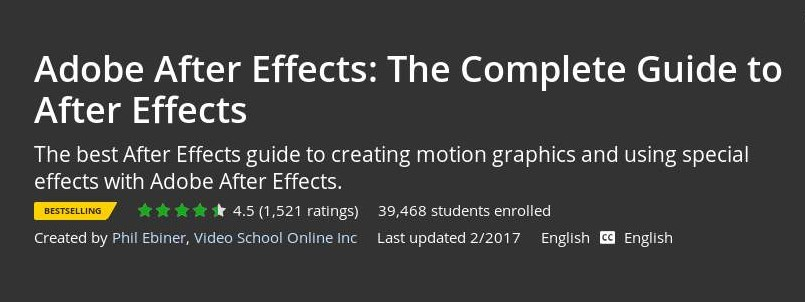 Udemy - Adobe After Effects: The Complete Guide to After Effects
