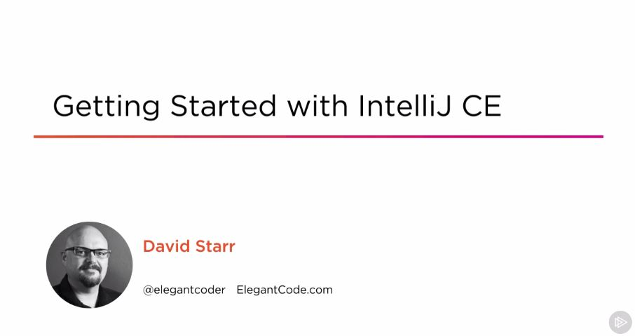 Getting Started with IntelliJ CE