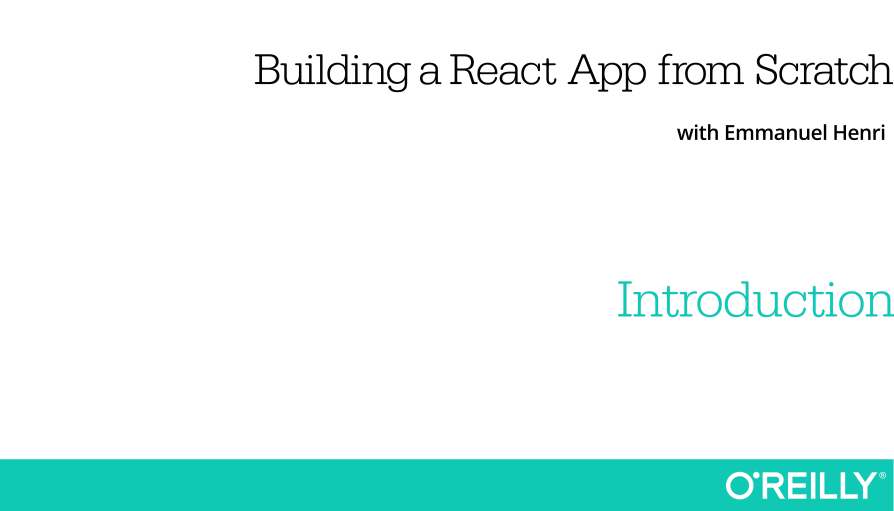 Building a React App from Scratch