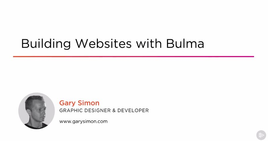 Building Websites with Bulma