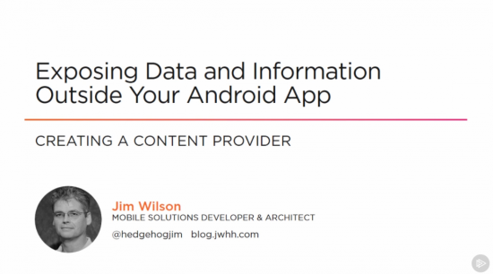 Exposing Data and Information Outside Your Android App