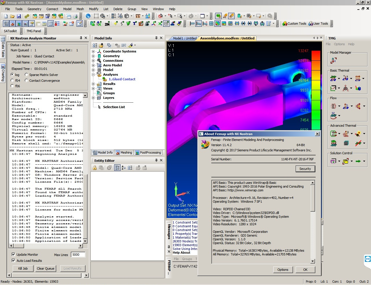 Siemens FEMAP 11.4.2 with NX Nastran