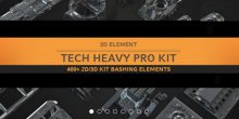 Gumroad – Tech Heavy Pro Kit (400+ 2d-3d Elements)