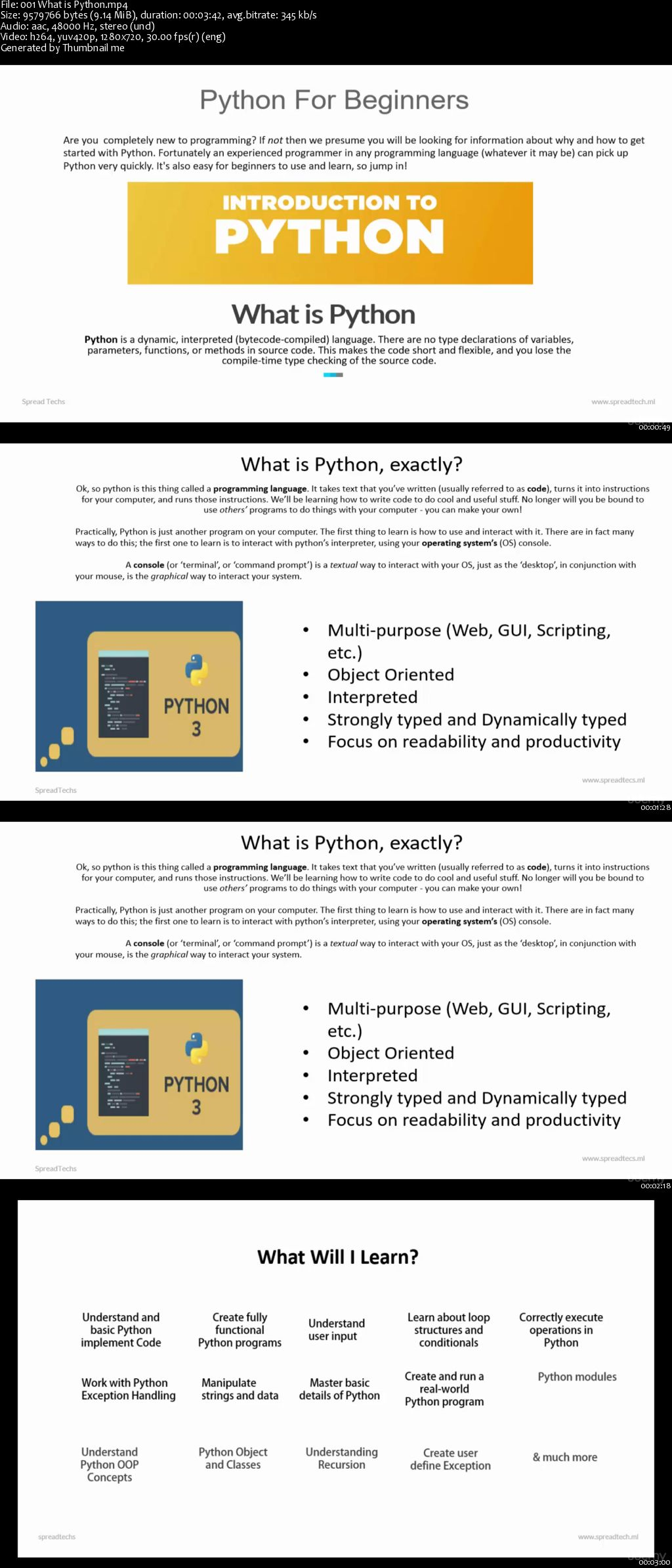 Python 3 For Beginner - Object-Oriented Programming