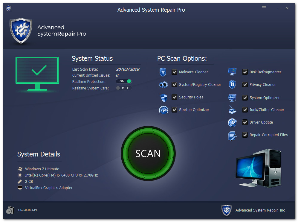 Advanced System Repair Pro 1.6.0.0.18.3.24